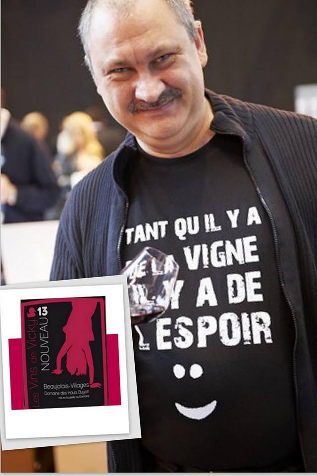 Gérard Garroy, sommelier belge a craqué pour le Beaujolais Nouveau de Vicky