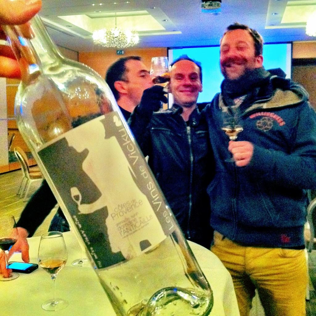 France-Vins 2013, Marc Roisin (Vinogusto) et quelques joyeux amoureux du Provence de Vicky