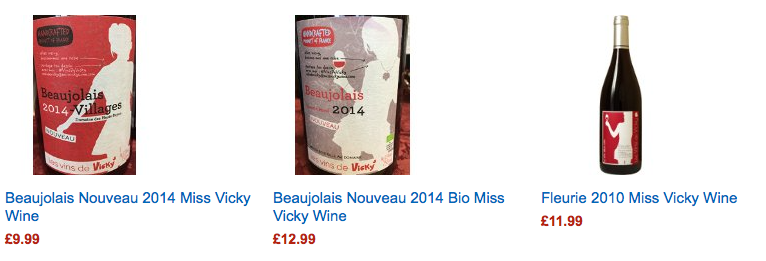 Amazon UK miss Vicky Wine