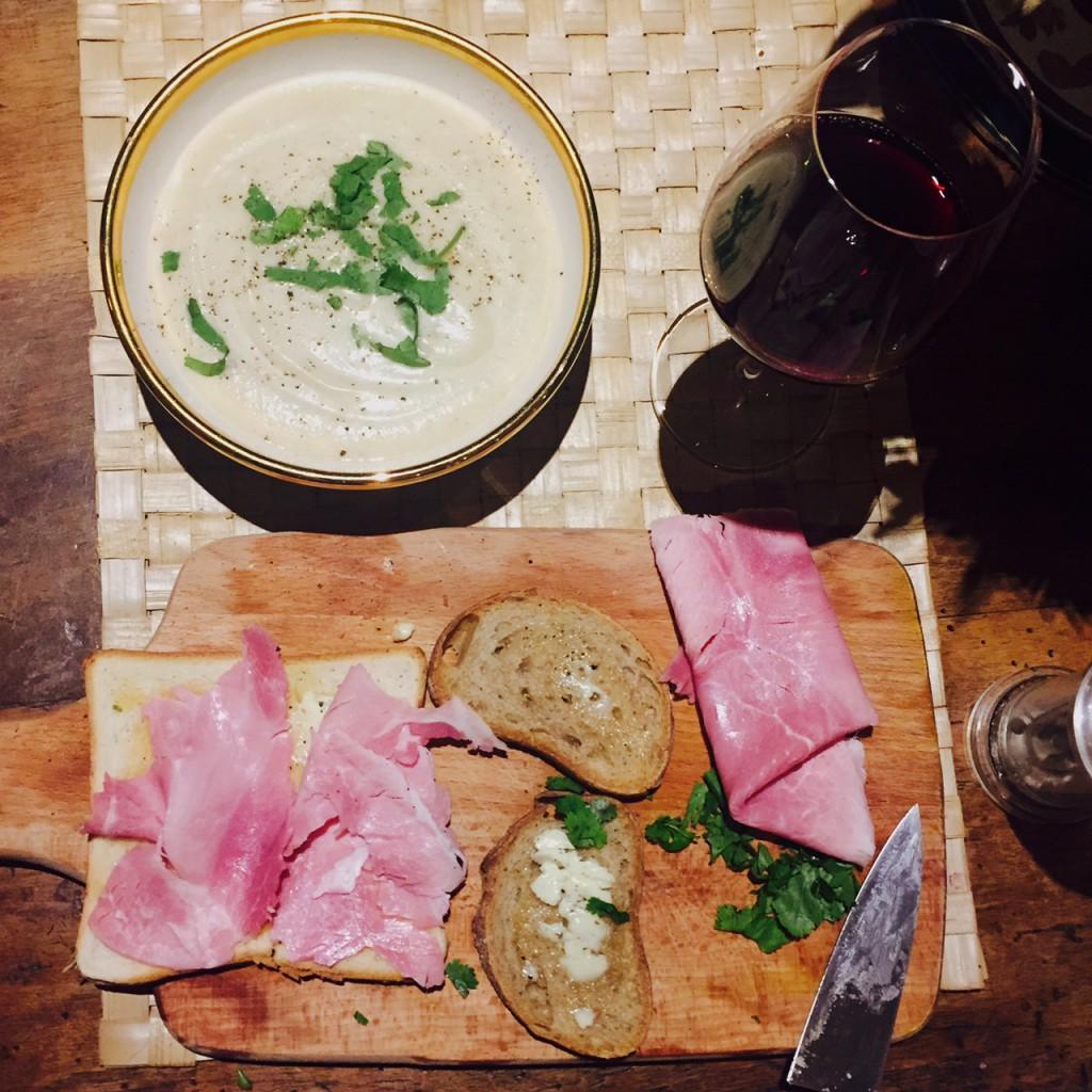 beaujolais vicky et soupe de chou fleur2