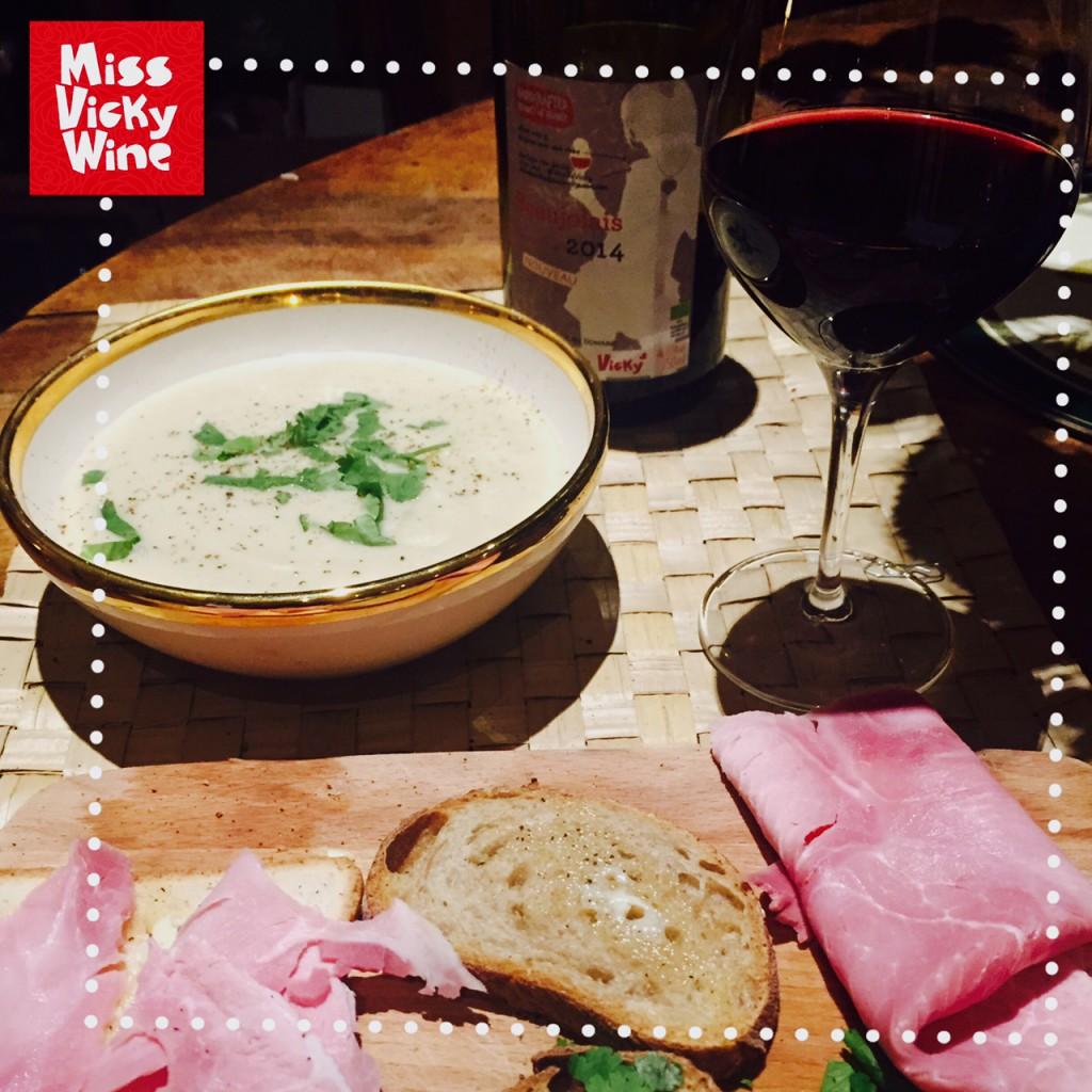 beaujolais vicky et soupe de chou fleur4