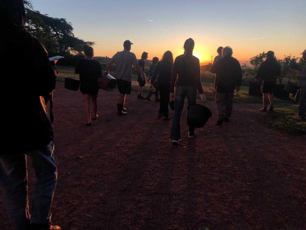 la troupe au départ chateau des moriers 2019  photo cléophée demoustier