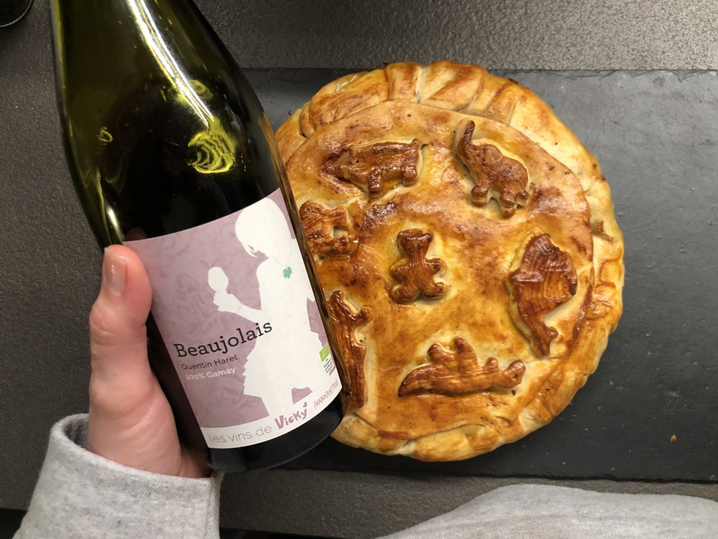 beaujolais and meat pie
